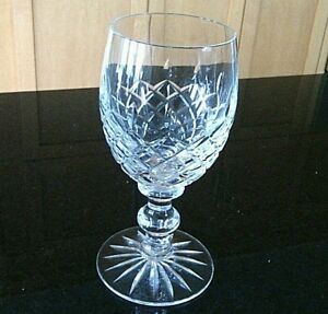 Crystal-Stem-Wine-Glass-Etched-Cut-Yugoslavia-Sprite-Wine-Drinks-Goblet-Dinner