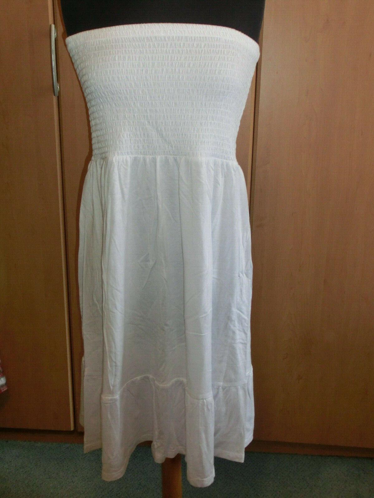 2-in-1 Shirt-Skirt Maxi Skirt minikkleid White Gesmokt Size M 40 42 * NEW