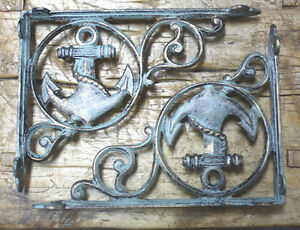 4 LG HD Cast Iron Antique Style CABLE Brackets Garden Braces Shelf Bracket BAR 2