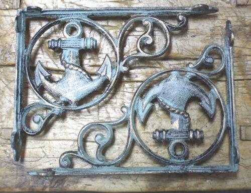 12 Cast Iron NAUTICAL ANCHOR Brackets Garden Braces Shelf Bracket PIRATES SHIP