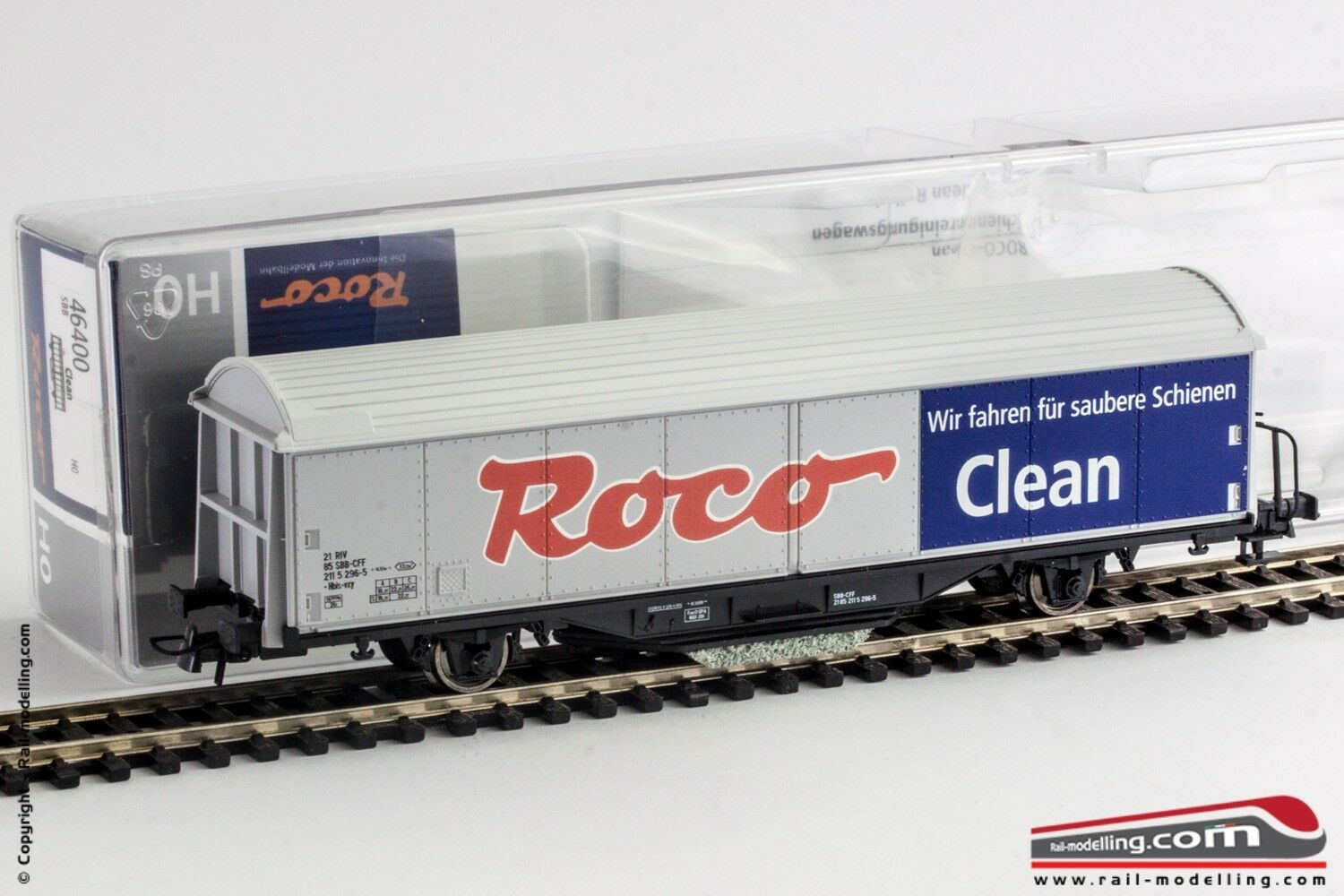 Roco 46400 H0 1 87 - Carro were clean with ballast and T-Blade Pipe