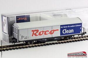 ROCO-46400-H0-1-87-Carro-merci-Roco-Clean-con-zavorra-e-pattino-pulisci-bina