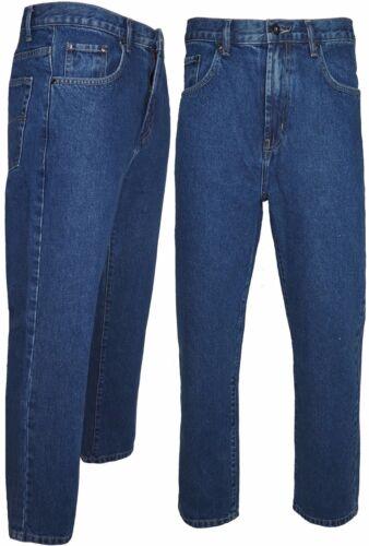 33 Girovita 30 a 50 Jeans Uomo Cerchio Blu Heavy Duty lavoro pantaloni gamba 27 29 31