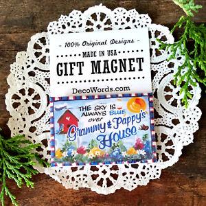 Grammy-Pappy-2-034-x3-034-Fridge-Magnet-Grandparent-Appreciation-Gift-USA-New-DecoWords