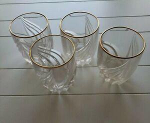 Lenox DEBUT Or Fleur Cristal Double Old Fashioned verres DOF Set of 4 Comme neuf-afficher le titre d`origine L62LE2Sn-09085910-764723970
