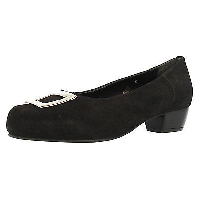 Damen DB DA Bella  Kate  Veloursleder Hof Schuhe in breit breite passforme