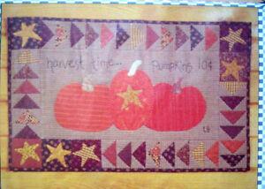 Details about Harvest time Halloween applique embroidery pumpkins quilt  pattern Lisa Bongean