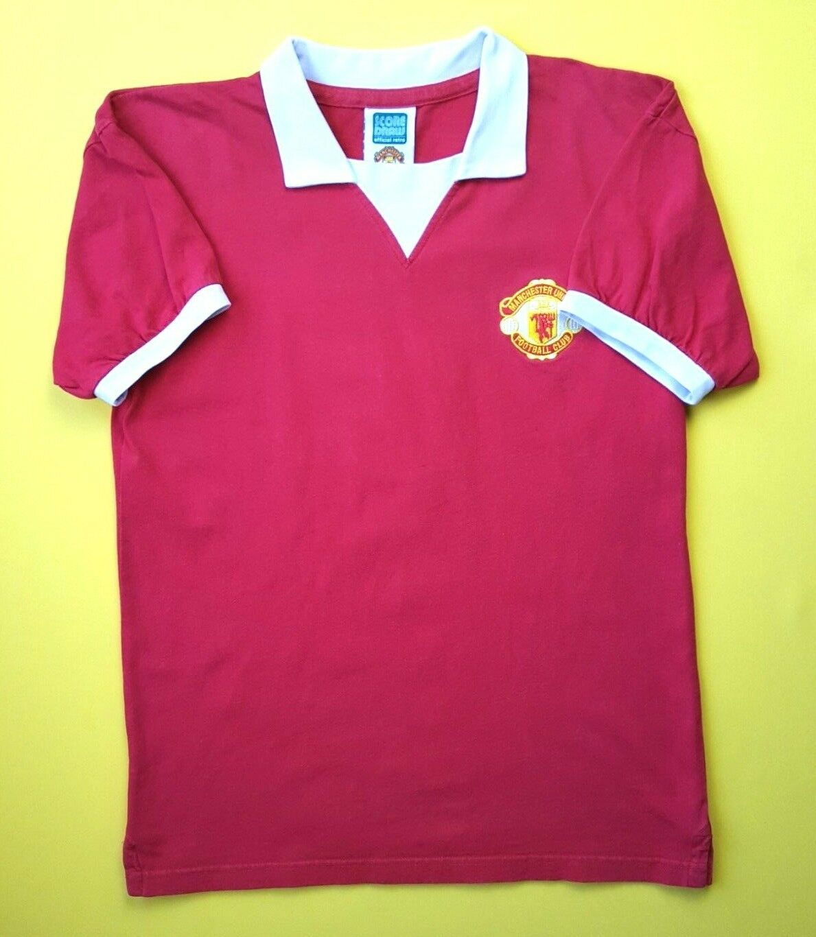 0a18c5526bd Manchester United replica jersey small 1972 1974 home shirt Score Draw  ig934.9 5