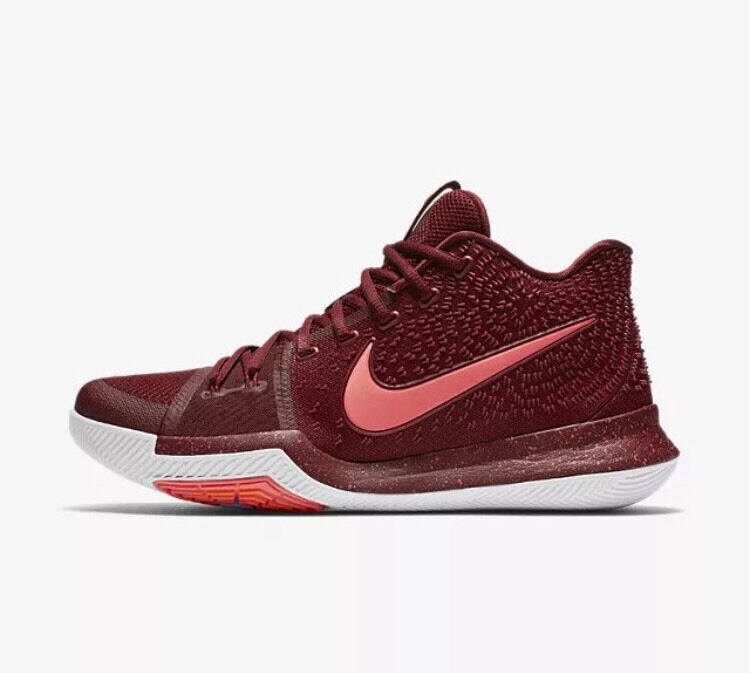 Nike Kyrie 3 Hot Punch Sz 14 Team Red White Irving Basketball Shoes 852395-681