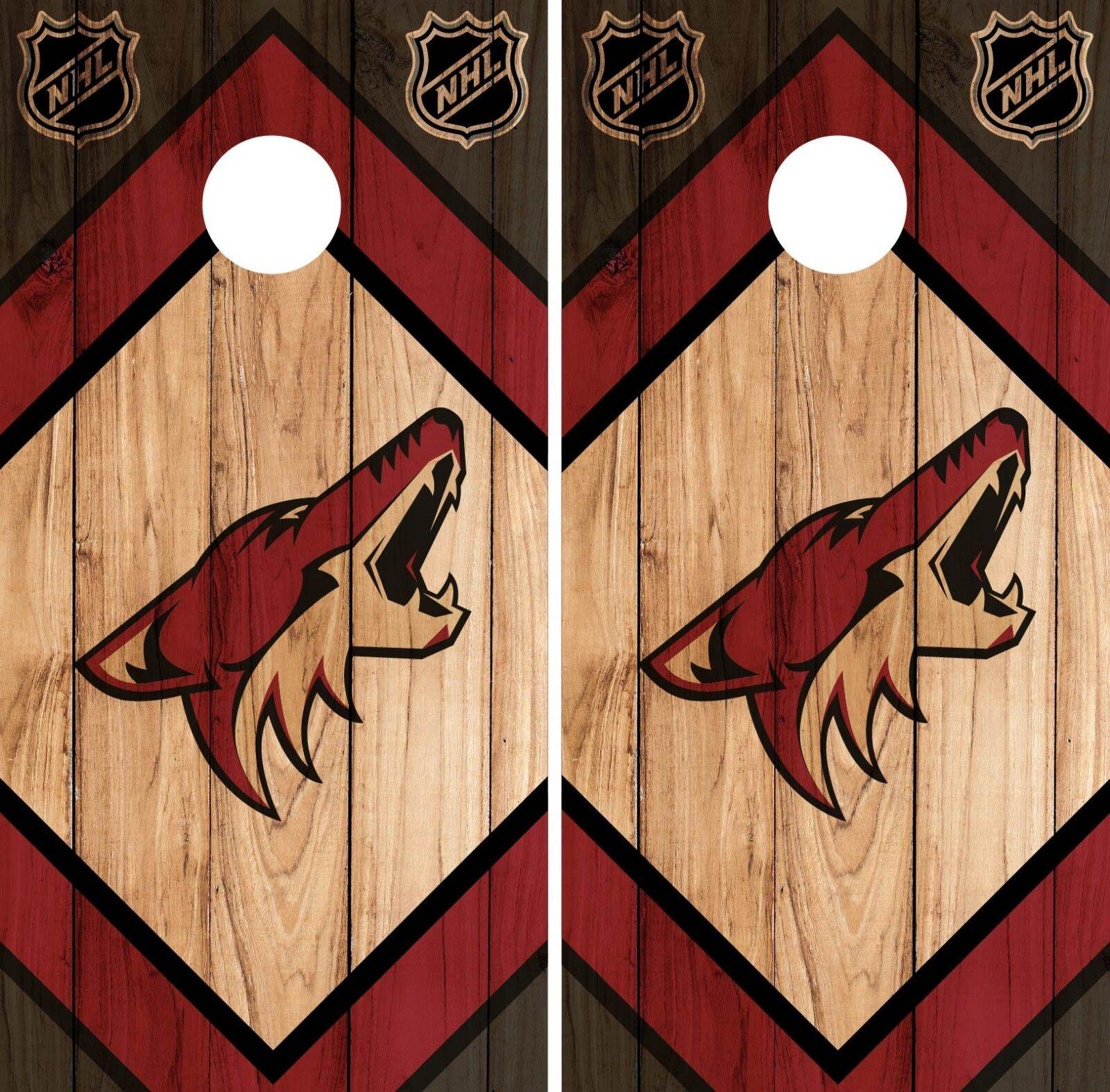 Arizona Coyote Cornhole Wrap NHL  Game Board Skin Set Vinyl Decal CO178  no tax