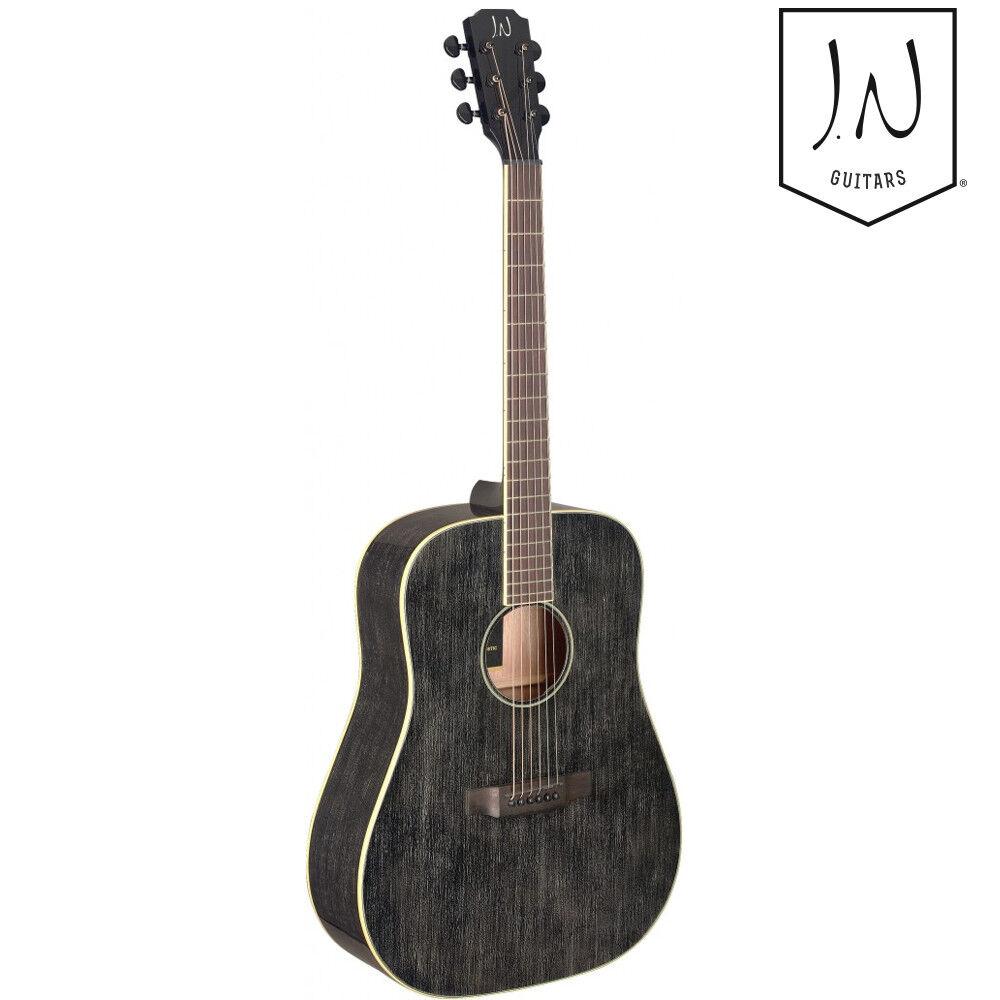 Nuevo Jn guitarras Yak-D yakisugi Series Guitarra Acústica Dreadnought Dreadnought Dreadnought pelo de perro negro  punto de venta en línea