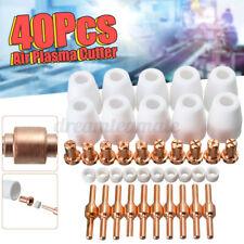 40pcs Air Plasma Cutter Consumables Extend Fit For Pt 31 Lg 40 Torch Cut 40 50
