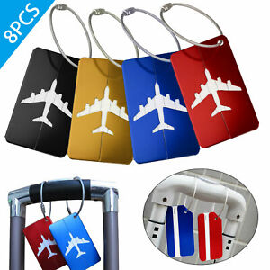 8pcs-Luggage-Tags-Suitcase-Label-Name-Address-ID-Bag-Baggage-Tag-Travel-4-Colors