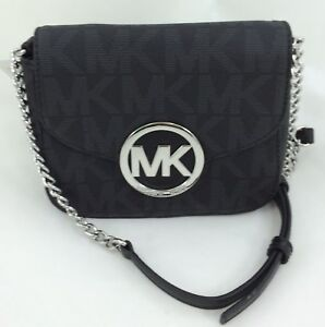 303b15afbaab New Authentic Michael Kors Fulton Logo and Leather Small Crossbody ...
