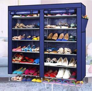 Schuhschrank faltschrank schuhregal stoffregal schuhablage 3 farben 6 ablagen de ebay - Schuhschrank faltschrank ...