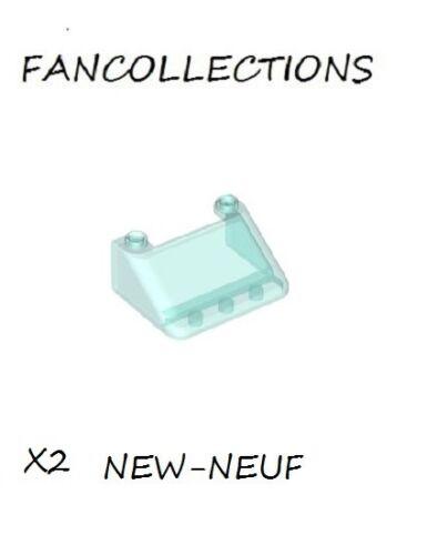 X2 Trans-Light Blue Windscreen 3 x 4 x 1 1//3 Large Glass 57783 NEUF LEGO