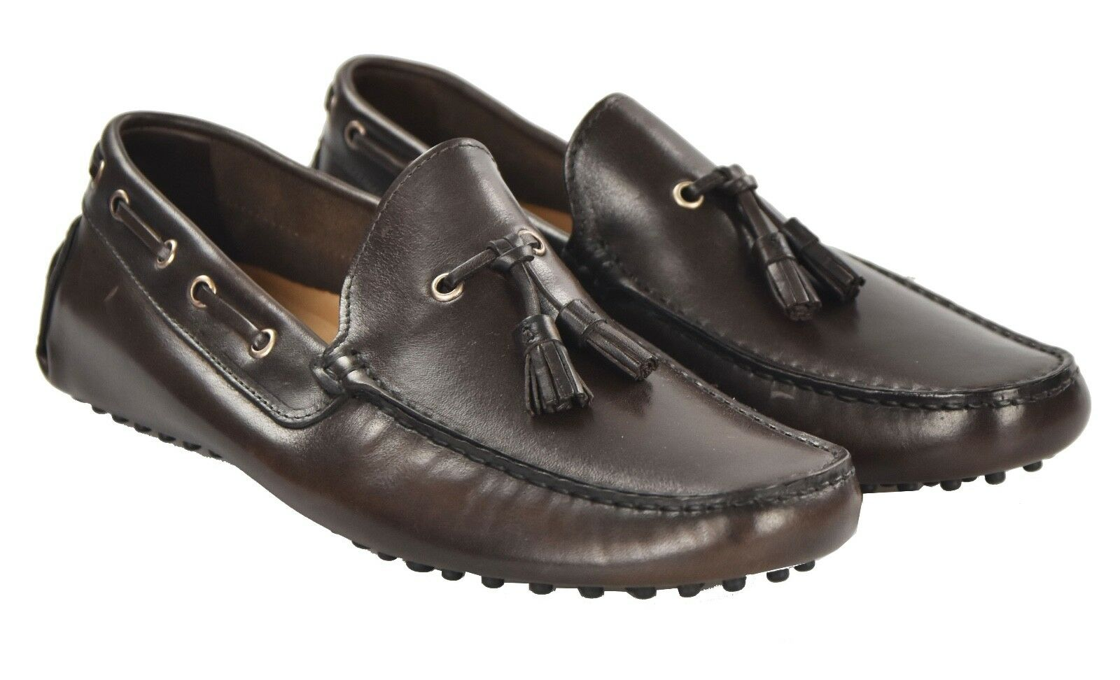 NEW KITON NAPOLI LOAFERS SHOES 100% LEATHER SIZE 11.5 US 44.5 EU 19O27