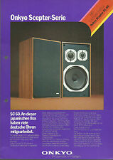 ONKYO sc-60/Hi-Fi Stereo Prospekt Catalogo Brochure catalogue