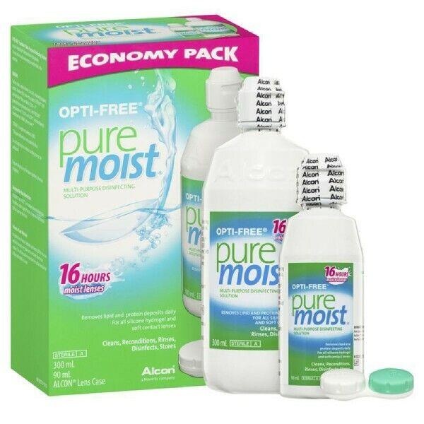 OPTI-FREE Pure Moist Multi-Purpose Disinfecting Solution Economy Pack