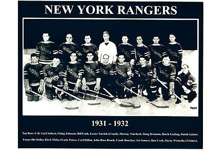 1931 1932 NEW YORK RANGERS 8X10 TEAM  PHOTO  HOCKEY NHL USA HOF