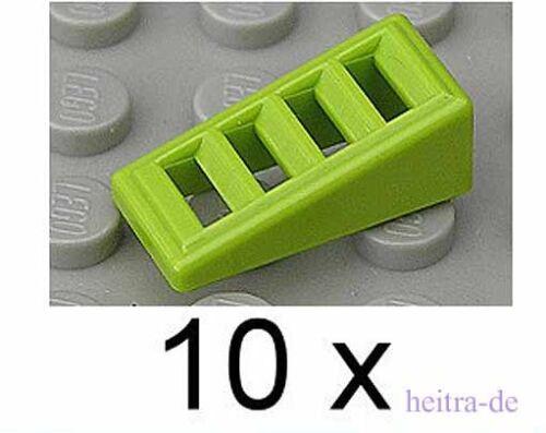grün 18 Grad 2x1x2//3 10 x Dachstein geriffelt lime 61409 NEUWARE LEGO