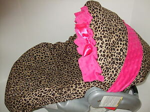 Image Is Loading NEW CHEETAH PINK MINKY INFANT CAR SEAT COVER