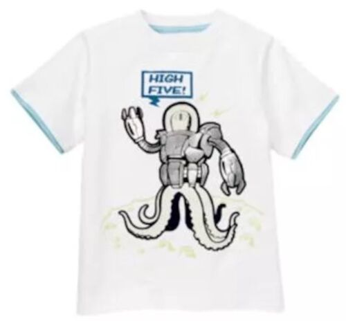 NWT 7 Gymboree SPACE VOYAGER robot High Five white  Cotton Knit SHIRT TOP  TWINS