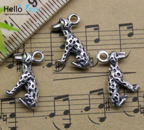 Wholesale 20pcs retro style Lovely dalmatians alloy charm pendant 16x12mm