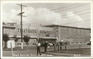 Seattle-WA-Ship-039-s-Service-Store-Real-Photo-Postcard-rpx