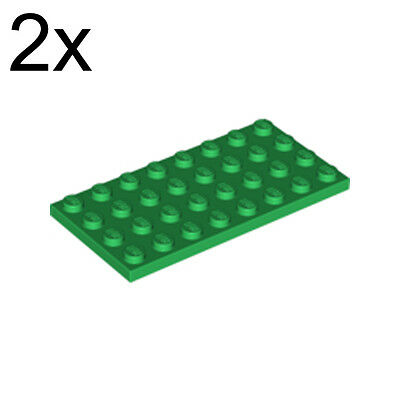 4 LEGO Plate 4 x 8 green