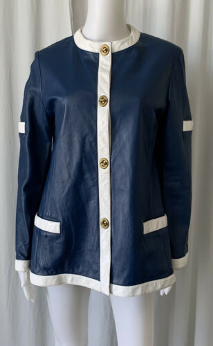 BONNIE CASHIN Vintage 60s SILLS Blue And White Tri