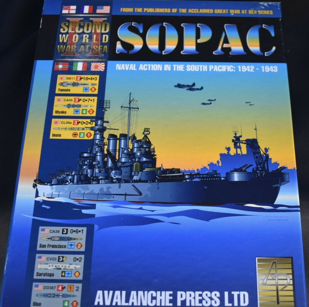 SOPAC  Naval Action In The South Pacific Board Game