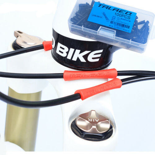 4//100pcs Bike Cable Rubber Protector For Shift Brake Pipe Frame Protection Cable