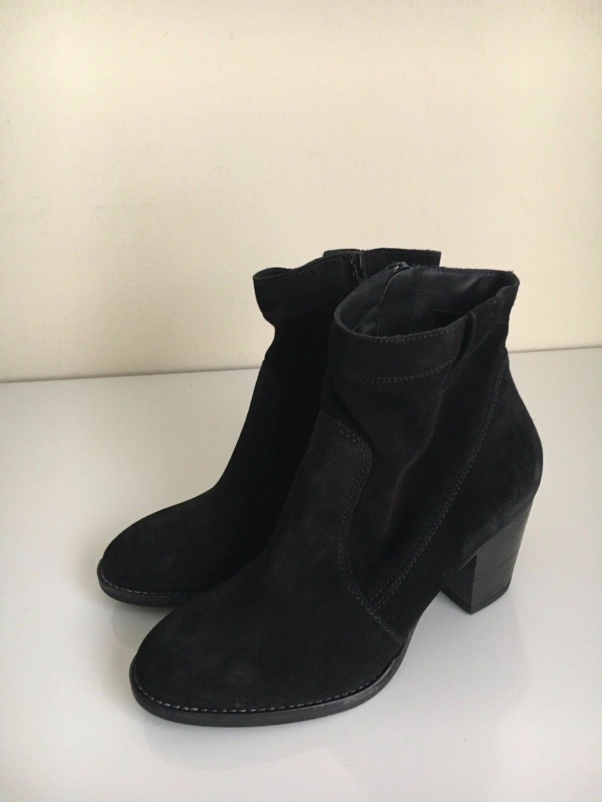 NEW Paul Green Jax Bootie 3 5.5 Black Suede Boot Ankle  389 US 5.5 3