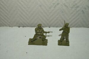 Rare-Bundle-2-Figurine-STARLUX-Soldier-French-Paratrooper-Commando-New-Figure