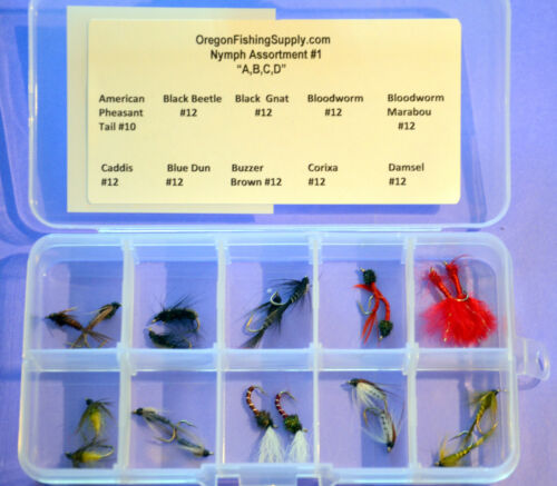 60 Fly in Organized Kits Master Nymph Fly Assembly 3 Pack of  Fly Kits
