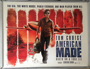 bbbe5d92fa Cinema Poster  AMERICAN MADE 2017 (Quad) Tom Cruise Domhnall Gleeson ...