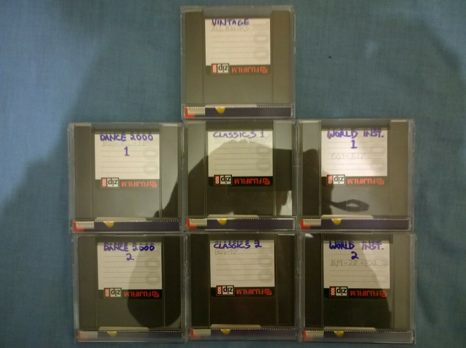 EMU sample collection on 7 new ZIP100 disks
