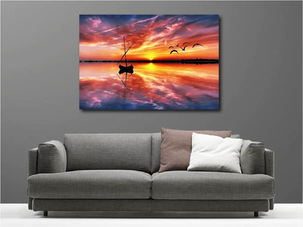 Canvas Paintings Deco Kit Lying Sunset Ref 55336516