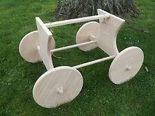 Stubenwagenuntergestell aus Buche, Untergestell für Baby oder Puppenwiege