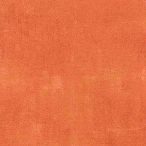 ~ Moda Fabric ~ Grunge Basics  ~ 1//2 yard        Papaya    #30150 261