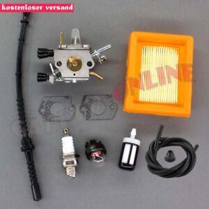 Vergaser-Luftfilter-fuer-Stihl-FS120-FS200-FS250-FS300-FS350-mit-Zuendkerze-Filter