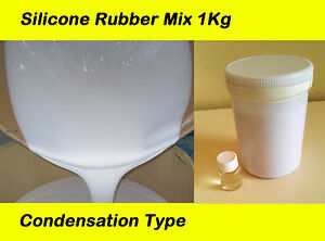 1 Kg Silicone Rubber Mould Making Mix White Catalyst Condensation Type Candles