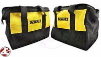2 Dewalt 6 Pocket 20v Heavy Duty Nylon 13x10x9 Contractor Tool Bag Case