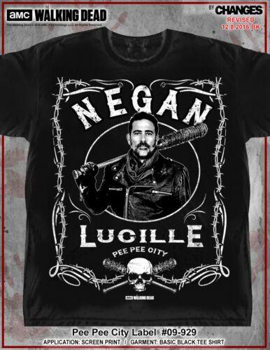 The Walking Dead Pee Wee City Label Negan Lucille Saviors Rick T-Shirt 09-929