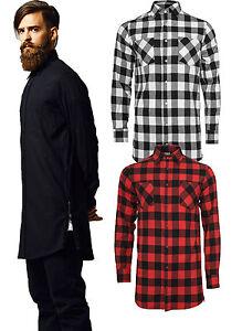 fdd85a88d82f Das Bild wird geladen Urban-Classics-Flanell-Herren-Zip-Hemd-Shirt-kariert-