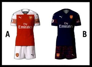 cheaper 57b51 efa36 Details about Merlin Premier League 2019 - Home/Away Kit Arsenal No. 152
