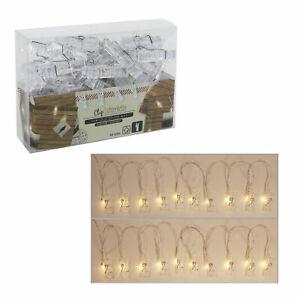 Lichterkette-034-Foto-Clip-034-mit-40-LEDs-Waescheklammern-40-Clips-Bilder-Fotos-5m