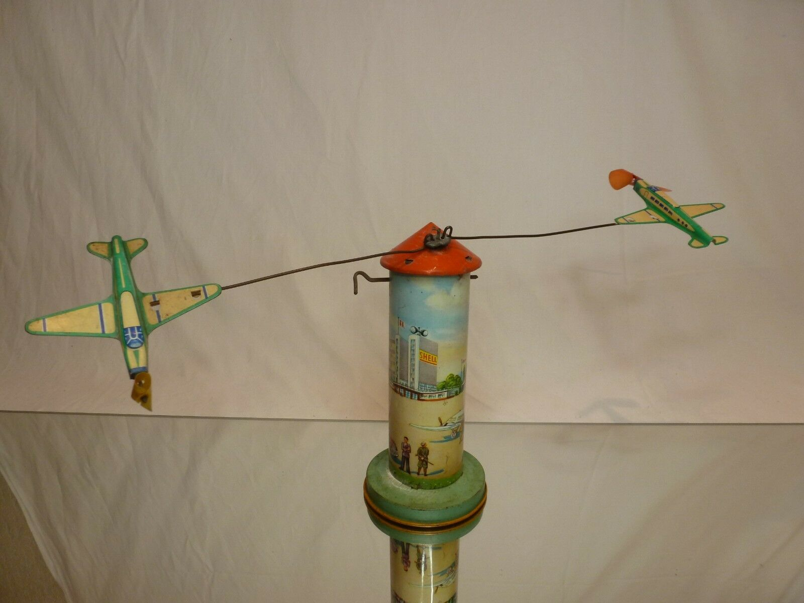 MADE IN WESTERN GERMANY US-ZONE - AIRPORT CONTROL TOWER - VERY  RARE - SHELL