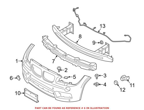 For BMW Genuine Tow Hook Cover 51118049932